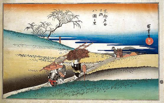 Village Of Yase by Hiroshige Utagawa