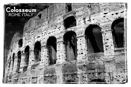 Vintage Colosseum Rome Italy by Ron Sumners