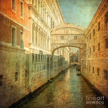 Vintage image of Bridge of Sighs Venice by Konstantin Kalishko