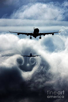 Wake turbulence by Greg Bajor