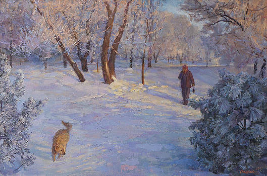 Walk in Winter Park by Galina Gladkaya