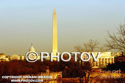 Washington DC Skyline with US Capitol Building by Hisham Ibrahim