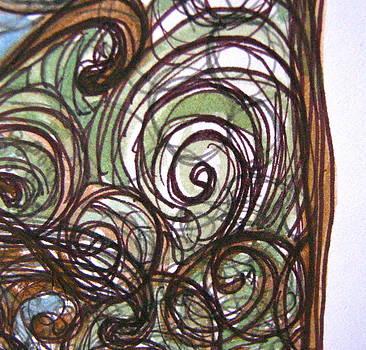 Sandy Tolman - Watercolor Swirls - detail