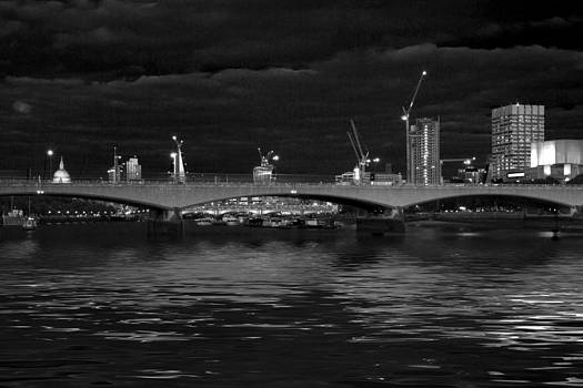 David French - Waterloo  Bridge St Pauls London