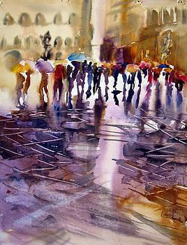 wet Street by Shirley Roma Charlton