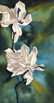 Alfred Ng - white magnolia with blues