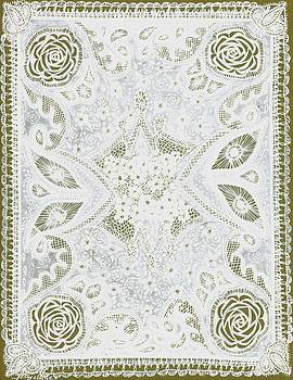 White on White Cutwork Lace by Jenny Sorge