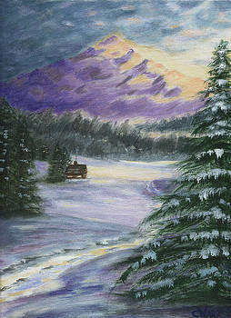 Winter Cabin by Colleen Ward