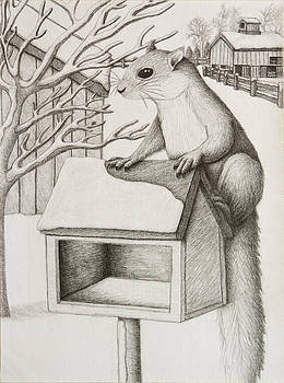 Jeanette K - Winter Squirrel