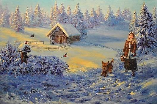 Winter walk by Julia Utiasheva
