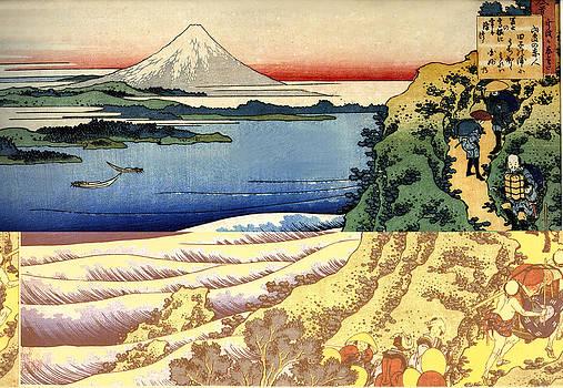Yamabe No Akihito by Katsushika Hokusai