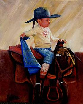 Young Cowgirl by Ronald Wilkinson