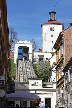Zagreb funicular by Borislav Marinic