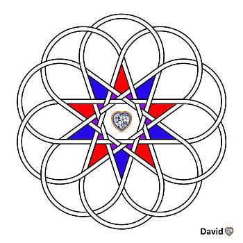 10 Woven Hearts by David Diamondheart