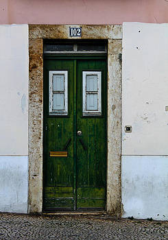 102 Vintage Green Lisboa Door by Calvin Hanson