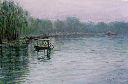 Fishing on Lake Tai by Nancy Yang