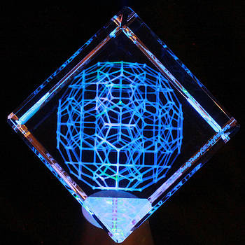 120 Cell Laser Etched in Optical Crystal by J Gregory Moxness