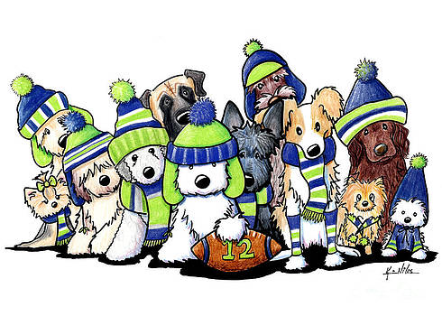 12 Dogs Illustration by Kim Niles