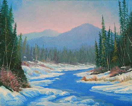 130402-810  Alomst Frozen - South Platte by Kenneth Shanika