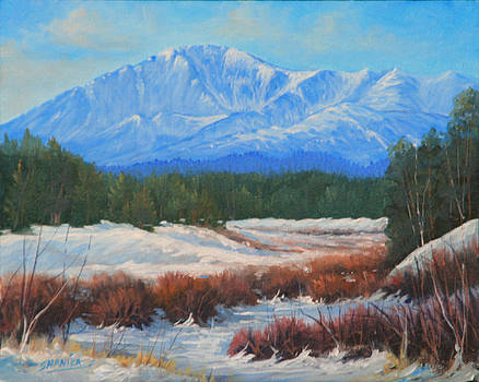 130404-810  Late Winter - Pikes Peak by Kenneth Shanika