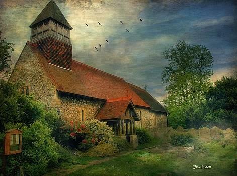 13th Century church  by Fran J Scott