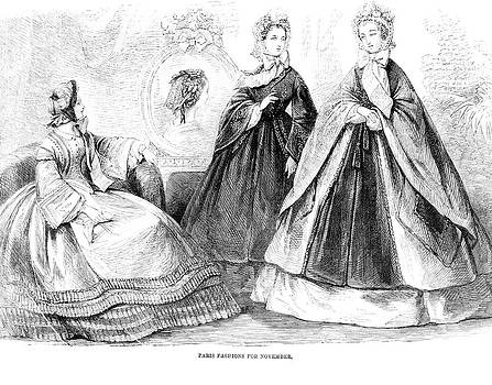 1860s Fashions Of The Day Illustration by Vintage Images