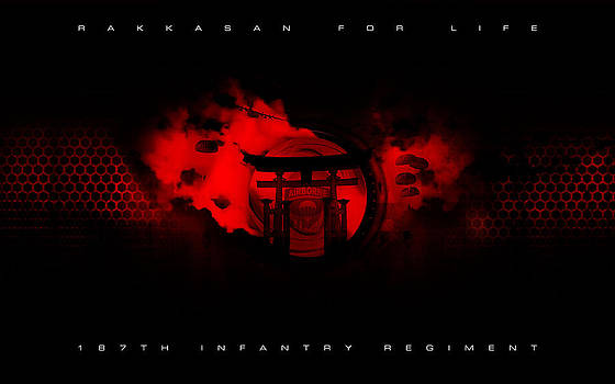 187th Infantry Regiment Rakkasan For Life Art 1 by David Cook  Los Angeles Prints