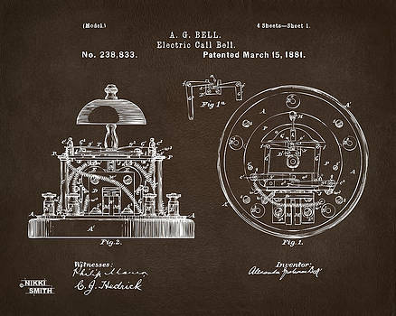 Nikki Marie Smith - 1881 Alexander Graham Bell Electric Call Bell Patent Espresso