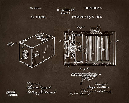 Nikki Marie Smith - 1889 George Eastman Camera Patent Espresso