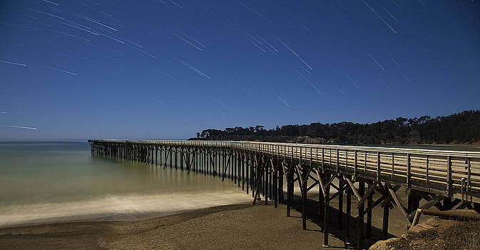 San Simeon Pier by Jose M Beltran