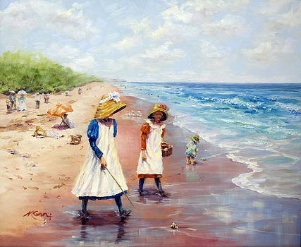 Marie Green - 1900 Collecting Sea Shells
