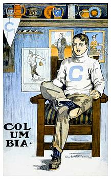 1902 - Columbia University Sports Poster - Color by John Madison