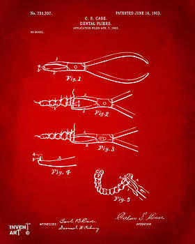Nikki Marie Smith - 1903 Dental Pliers Patent Red