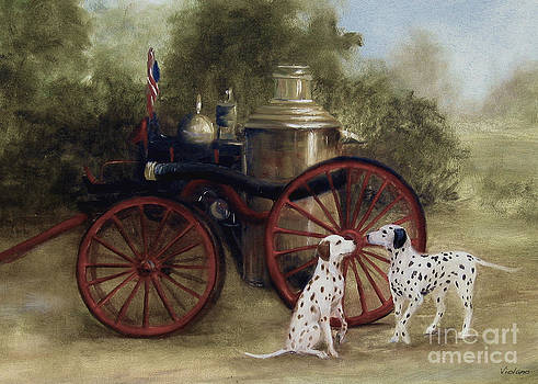 1905 Firehouse Dogs by Stella Violano