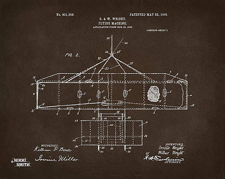 Nikki Marie Smith - 1906 Wright Brothers Airplane Patent Espresso