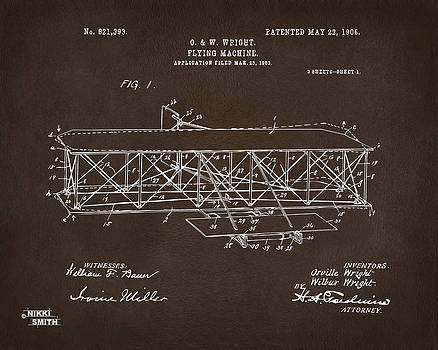 Nikki Marie Smith - 1906 Wright Brothers Flying Machine Patent Espresso