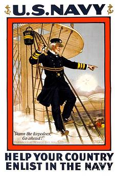 1910 - United States Navy Recruiting Poster - Color by John Madison