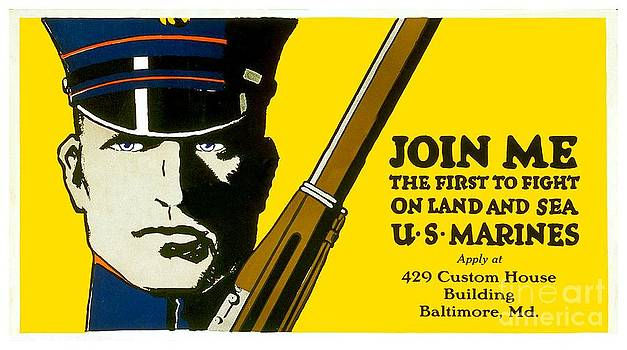 1915 - United States Marines Recruiting Poster - Color by John Madison