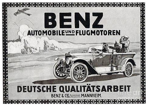 1916 - Mercedes Benz Automobile and Aircraft Advertisement - World War One by John Madison