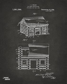 Nikki Marie Smith - 1920 Lincoln Logs Patent Artwork - Gray
