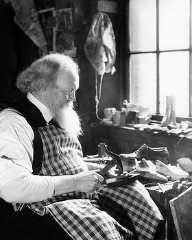 1920s 1930s Bearded Elderly Cobbler by Vintage Images