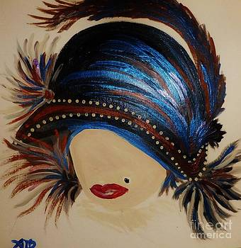 1920s Feather Hat by Marie Bulger