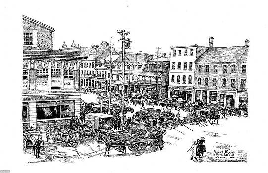 1923 Byward Market Ottawa by John Cullen