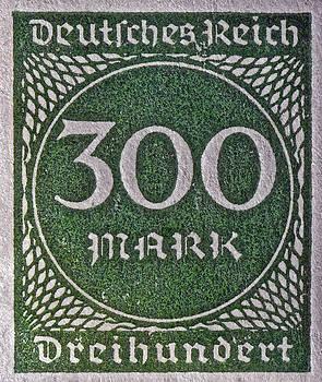 Bill Owen - 1923 Three Hundred Mark Weimar Republic Stamp