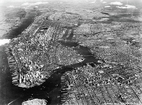 1930s 1940s Aerial View New York City by Vintage Images