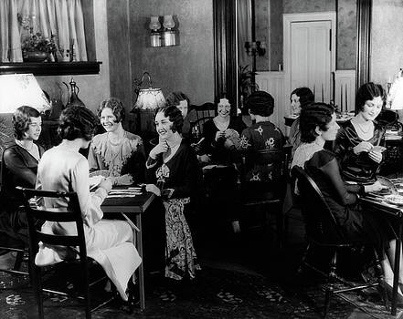 1930s Groups Of Women Seated At Three by Vintage Images