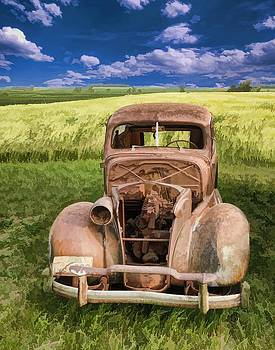 Ray Van Gundy - 1938 Classic Car in Grass Field