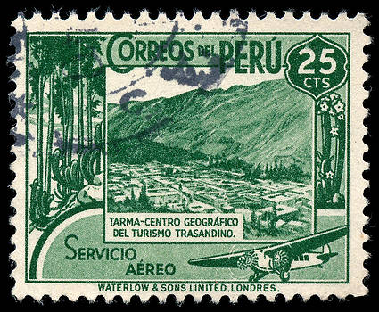 1938 Peruvian Postage Stamp by Charles  Dutch
