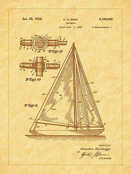 Barry Jones - 1938 Sailboat Patent Art