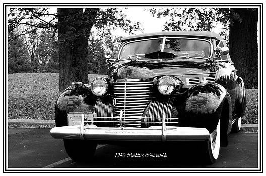 Randall Branham - 1940 Cadillac Convertible black n white